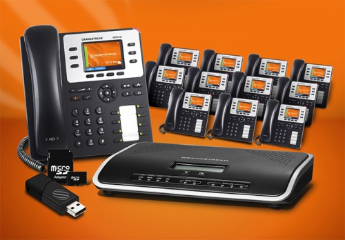 Grandstream GXP2130-P12 Phone System Package