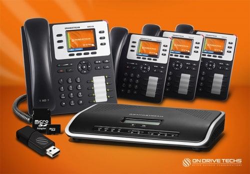 Grandstream GXP2130-P4 Phone System Package