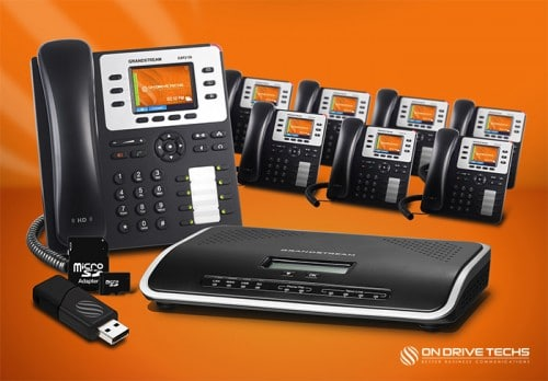 Grandstream GXP2130-P8 Phone System Package