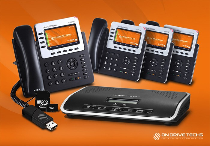 Grandstream GXP2140-P4 Phone System Package