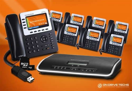 Grandstream GXP2140-P8 Phone System Package